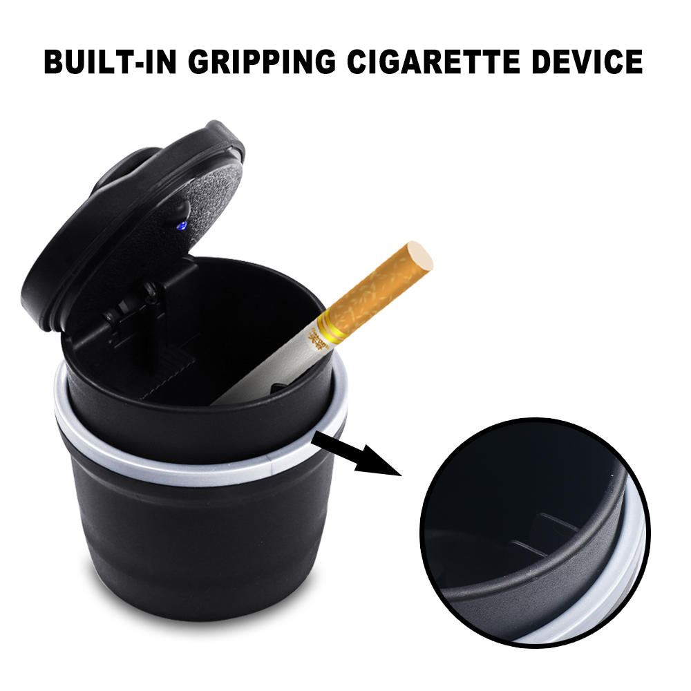 Для Volvo XC60 XC90 S60 S80 S40 V40 V60 V70 V50 автомобильная пепельница светодиодный портативный офисный пепельница для сигарет держатель для ручки для авто...