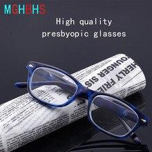 Nova alta qualidade masculino e feminino óculos de leitura tendência da moda para os idosos óculos de leitura + 1.0 + 1.50 + 2.00 + 2.50 + 3.00 + 3.50