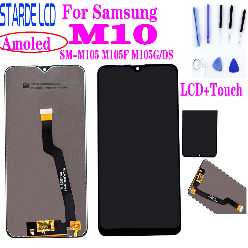 Super Amoled <font><b>LCD</b></font> For <font><b>SAMSUNG</b></font> <font><b>M10</b></font> SM-M105 M105F M105G/DS <font><b>LCD</b></font> Display Touch Screen Digitizer Assembly Screen Replacement image