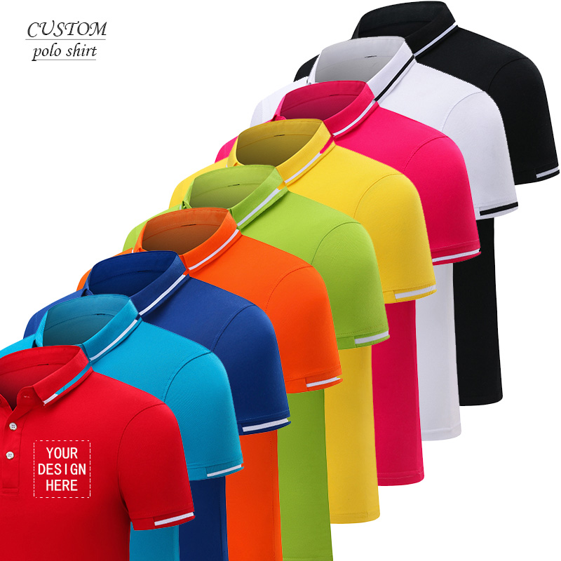 Custom Embroidery Polo Shirts -with Custom-made Message Or Text Birthday Xmas Holiday Gift