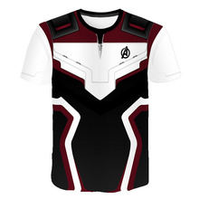Avengers 4 Endgame Quantum War 3D Printed T shirts Boys Compression Shirt Iron man Cosplay Costume Short Sleeve Tops For Kid