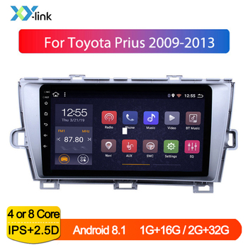 Android touch screen Car GPS Navigation Radio system for 2009-2013 Toyota Prius LHD multimedia player accessories Bluetooth 1din image
