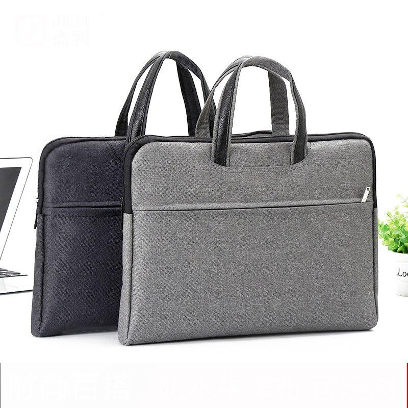 File Folder Tote Bag A4 Zipper Canvas Meeting Business Briefcase Student Small Fresh Oxford Cloth Paper Bag Document Organizer Escolar