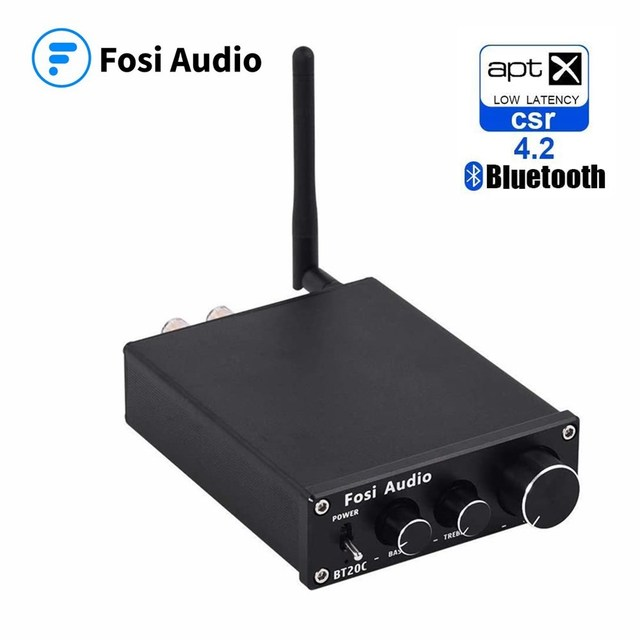 Fosi Audio Bluetooth 4.2 Power Sound Amplifiers Subwoofer Amplifier Surround 50Wx2 Amplificador Audio Amp Home Theater