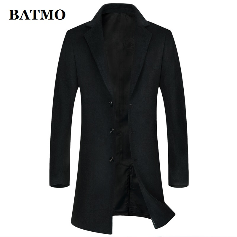 BATMO New Arrival Winter High Quality Wool Long Trench Coat Men,men's Wool Casual Jackets,plus-size M-8XL 8866