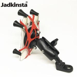 Image 1 - Jackkinsta البلاستيك دراجة نارية المقود حامل مشابك جبل مع الكرة 25 مللي متر للهواتف الذكية ل Gopro كاميرات X Grip