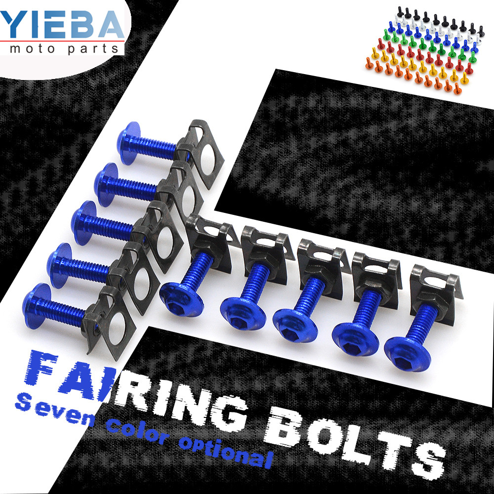 10pcs 6mm Motorcycle Body Fairing Bolts Spire Speed Fastener Clips Screw Spring Bolots Nuts FOR <font><b>HONDA</b></font> <font><b>Integra</b></font> <font><b>700</b></font> 750 NSS300 image