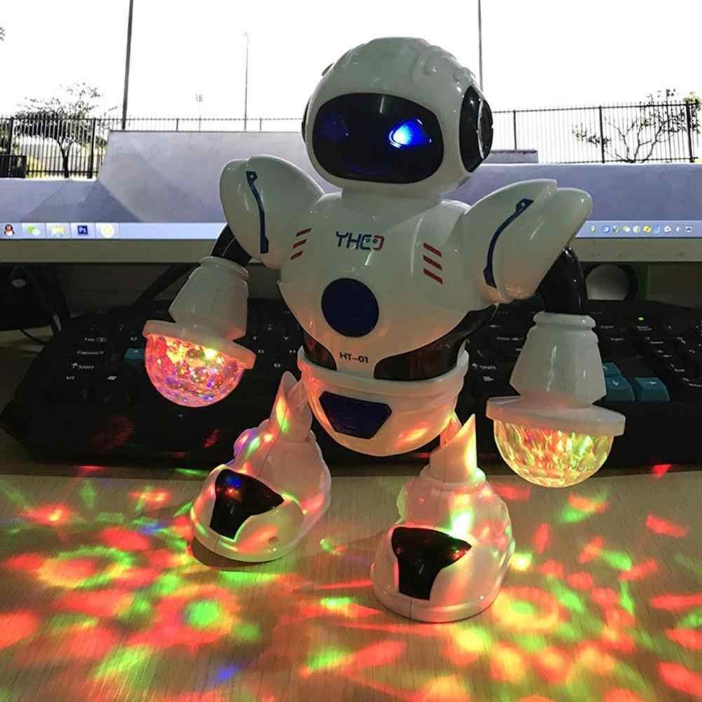 전기 춤 다채로운 깜박이 빛으로 뮤지컬 모델 로봇 산책 아이 대화 형 교육 장난감 훨씬 더 즐겁게
