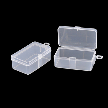 2pcs/lot Transparent Toolbox Electronic Plastic Parts Container Tool Box Sewing Fish Hook Component Storage Box 6.9*3.9*2.6cm image