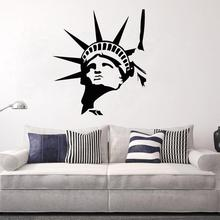 Statue Of Liberty Head Wall Sticker New York Landmark Bedroom And Living Room Home Decor Vinyl Art Wall Decal