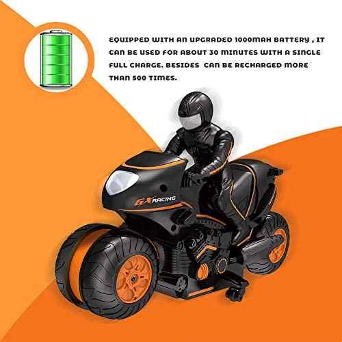 RC araba Mini motosiklet uzaktan kumanda Motor elektrikli motosiklet 2.4 Ghz 2WD yüksek hızlı oyuncaklar çocuk hediye için turuncu renk