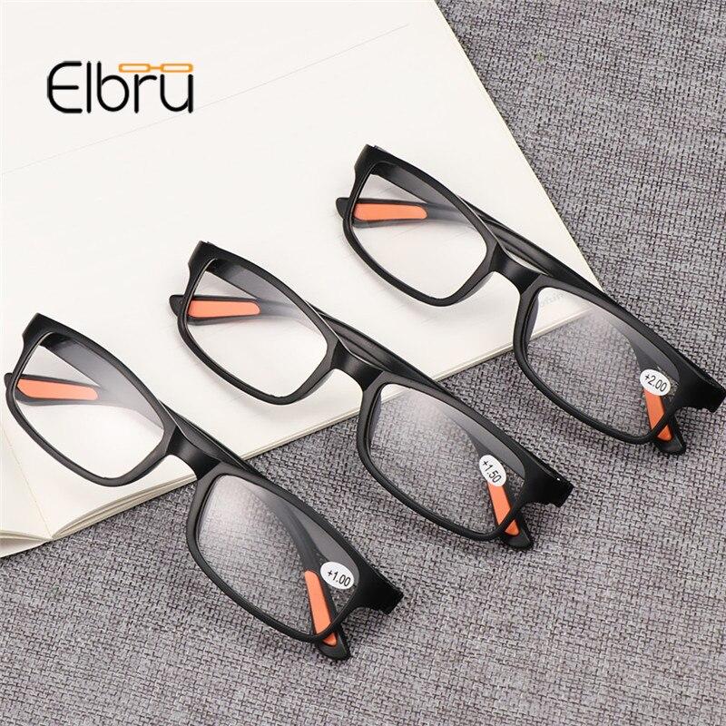 Elbru TR90 Small Frame Ultra Light Reading Glasses Women&Men Presbyopia Eyewear Glasses +1.0 +1.5 +2.0 +2.5 +3.0 +3.5 +4.0