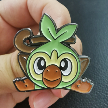 Grookey Evolution Sword Enamel Pin grass starter Brooch pokedex Badge cute animal Accessory image