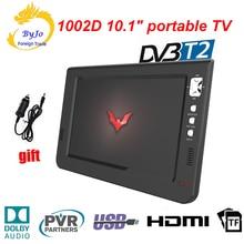 LEADSTAR 10 pouces lecteur de télévision numérique mini TV LED AC3 DVB-T T2 HDMI USB TF TV analogique ATSC programmes de télévision portables chargeur de voiture cadeau