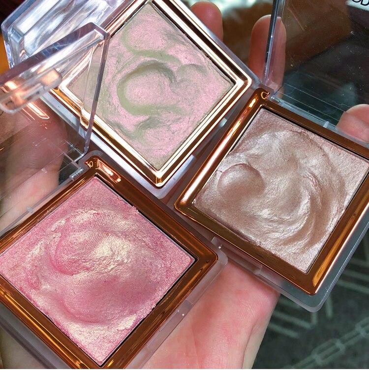 Professional Facial Highlighter Bronzers Palette Makeup Face Contour Highlight Shimmer Powder Diamond Bomb Illuminator