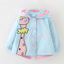 Baby Outwear 2020 New Winter Baby Girls fashion cartoon hood