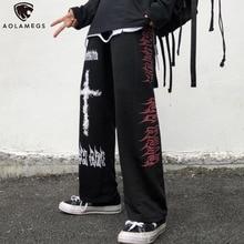 Leg-Trouser Sweatpants Aolamegs Graffiti Streetwear Harajuku Punk Japanese Anime Casual