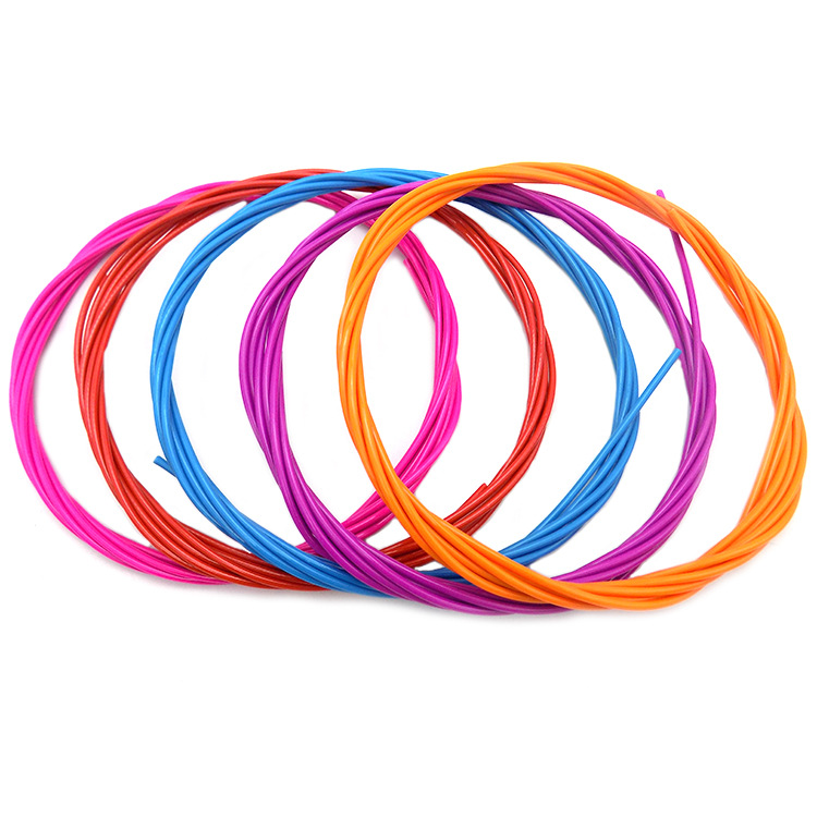 Sponge Handle Jump Rope Sports Supplies Children Jump Rope Color Bag Plastic Coated Wire Ropes