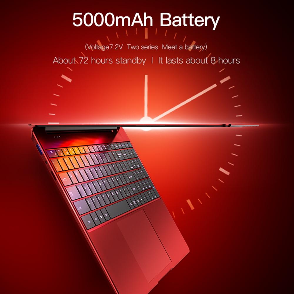 Dere R9 PRO 15.6inch 8GB 256GB Laptop Fingerprint Recognition Blacklit keyboard 1920x1080 Notbook Laptops Intel Pentium Computer-4