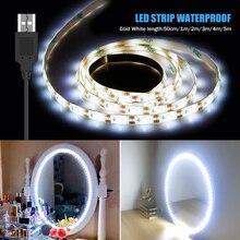 USB 5V Makeup Vanity Mirror Wall Lamp Led Strip Light LED Tape Flexible Waterproof Decor Bedroom Dressing Table