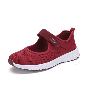 Image 2 - MWY Women Casual Shoes Fashion Breathable knitted Women Sneakers Hook Loop Soft Trainers Outdoor Walking Shoes Chaussure Femme