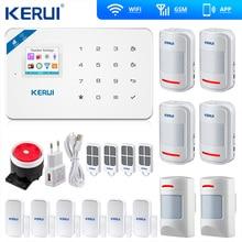 Kerui W18 Wireless Wifi GSM Alarm IOS Android APP Control GSM SMS Wifi Home Burglar Alarm System Pet Immune Movement Pet Motion