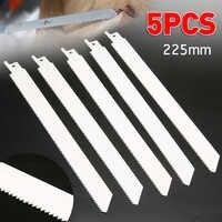 5 piezas S1122 hojas de sierra alternativo hojas de sierra flexibles de Metal 10tpi para BOSCH 225mm x 19mm x 0,9mm