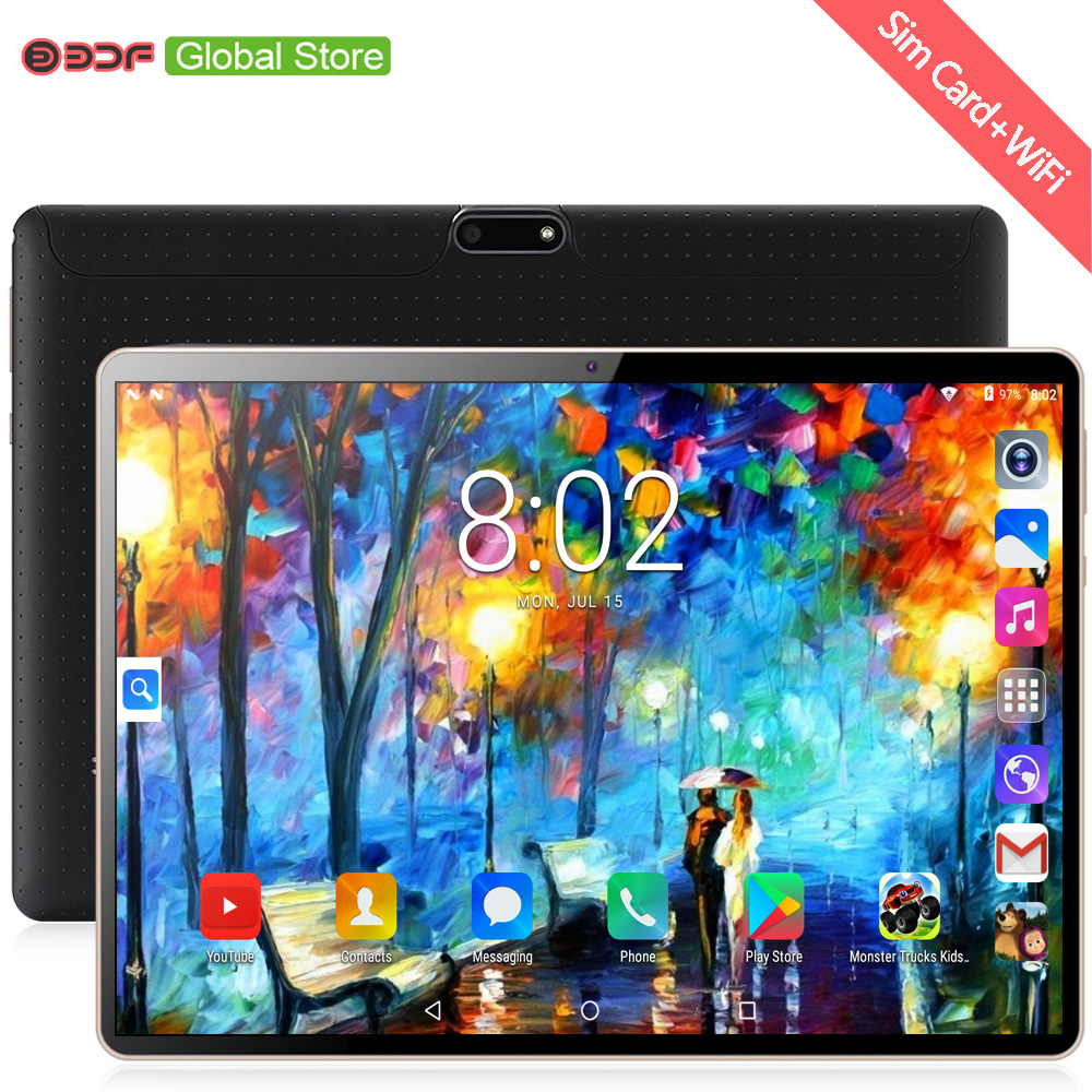 10 Inch Tablet Pc Android 7.0 Quad Core Tablets 3G Double SIM Card Phone Call WiFi GPS Bluetooth 10.1 Inch Tab