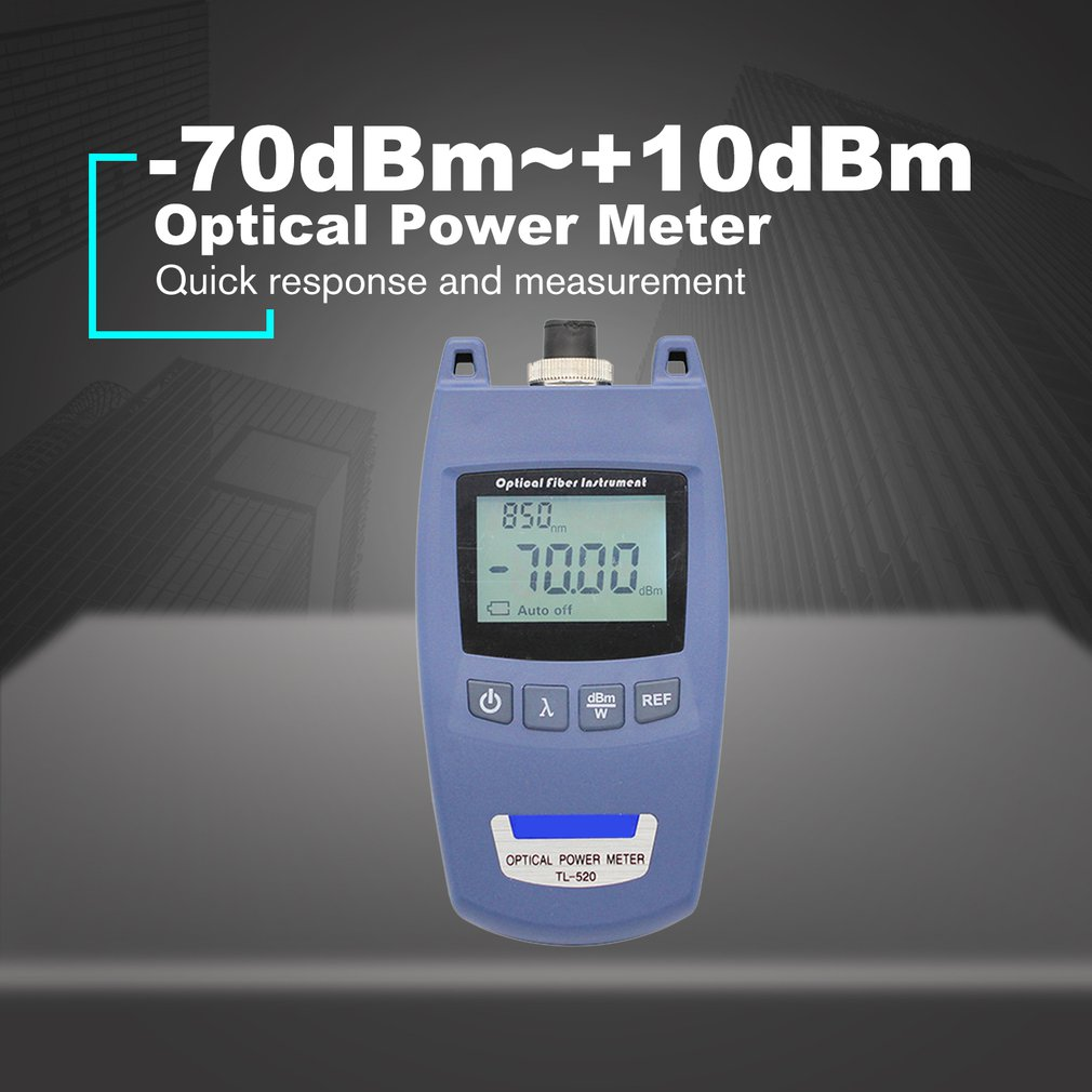 Mini Portable FTTH Optical Power Meter OPM Optic Fiber Cable Tester  70dBm~+10dBm SC/FC Universal Connector TL 520|Circuit Breaker Finders| |  - title=
