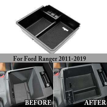 Podłokietnik samochdoowy konsola środkowa taca do przechowywania skrzynia dla Ford Ranger 2012-2019 tacka organizer akcesoria samochodowe tanie i dobre opinie CN (pochodzenie) Schowek podłokietnik ABS Plastic 2011 - 2018 2019