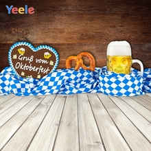 Yeele Oktoberfest Carnival Wood Breaks Beer Music Photography Backdrops Personalized Photographic Backgrounds For Photo Studio
