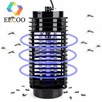 Lampa owadobójcza lampa Led fotokatalizator pułapka na muchy Bug do zabijania owadów lampa owadobójcza anty środek odstraszający komary ue wtyczka amerykańska tanie i dobre opinie EECOO 110 v Elektryczne Komara Cewki