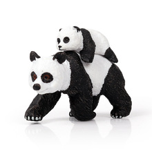 Hot Sale DIY Wild Jungle Zoo Animals Panda Model Action Figures Wild  Animal Figurine Collection  Educational Toys For Kids Gift oenux original savage wild animal wolf action figure gray wolf beast wolves model figurine pvc high quality collection toys gift