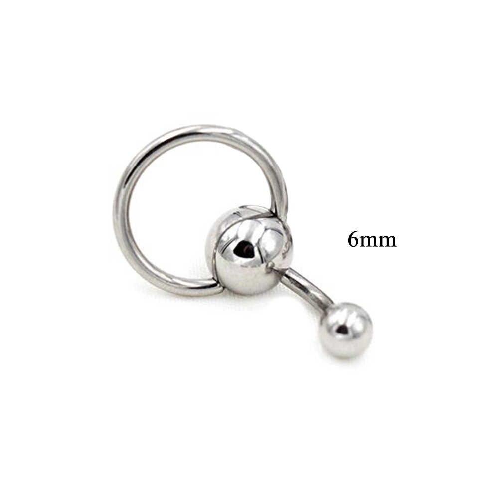 ร้อนสแตนเลสสตีลแหวนเงินเซ็กซี่แหวนหน้าท้อง Body piercing เครื่องประดับ Punk Hip Hop DIY Navel แหวน
