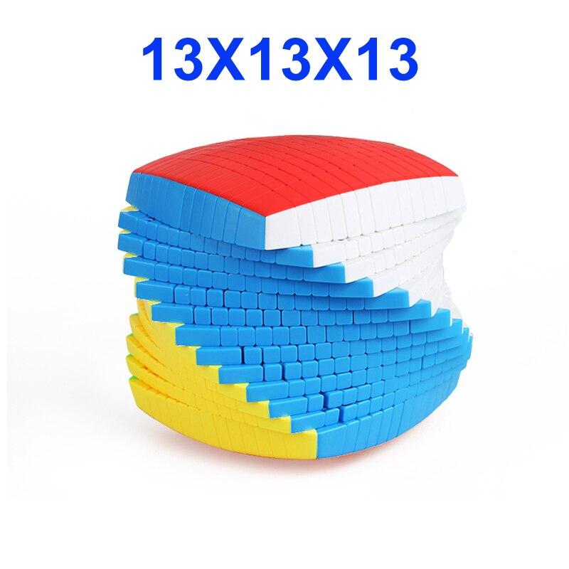 최신 상위 shengshou 13 레이어 128mm 스티커없는 13x13x13 매직 큐브 속도 퍼즐 13x13 큐브 교육 완구 선물 cubo magico-에서매직 큐브부터 완구 & 취미 의  그룹 1