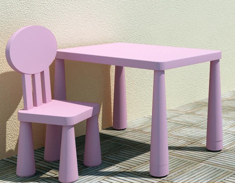 77*55*(48-53)cm Heighten Kindergarten Desk Children Studying Desk With Round Back-rest Chair