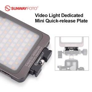 SUNWAYFOTO DP-12 12 мм мини QR пластина для светодиодной заливки видео Arca/RRS совместимая пластина, используемая на штативе