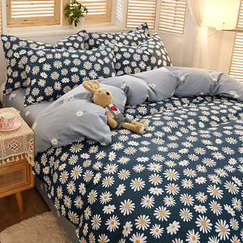 Bedding set 3/4 piece 100% cotton Duvet cover set Large comforter bedding sets Full Queen King size luxury home textile