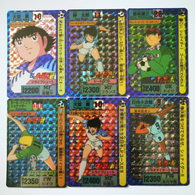 42pcs/set Soccer Boy Childhood Memory Captain Toys Hobbies Hobby Collectibles Game Collection Anime Cards  Free Shipping