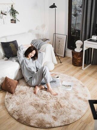 Tapis rond chambre Tatami nordique tapis peluche salon maison tapis - 2