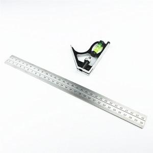 "Image 2 - Diy正確なステンレス鋼測定ツールアルミコンビネーション携帯正方形ワークショップハードウェア角度スピリットレベル12 ""(300ミリメートル)"
