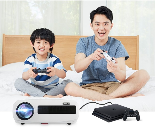 WZATCO C3 4K Full HD 1080P LED Projector Android 10 Wifi Smart Home Theater projector 11A