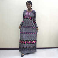 African Dashiki Newest Fashion Design Appliques Rose Red Color 100% Cotton African Lace Dress For Women