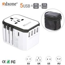 Seyahat adaptörü Rdxone evrensel güç adaptörü şarj cihazı dünya çapında adaptörü duvar elektrik fişleri prizler dönüştürücü cep telefonları için