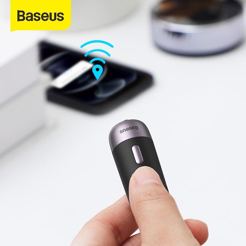 Baseus 2 шт. интеллигентая (ый) Перезаряжаемые анти-потерянный трекер Беспроводной смарт-трекер Key Finder ребенок сумка Кошелек Finder тега сигнализа...