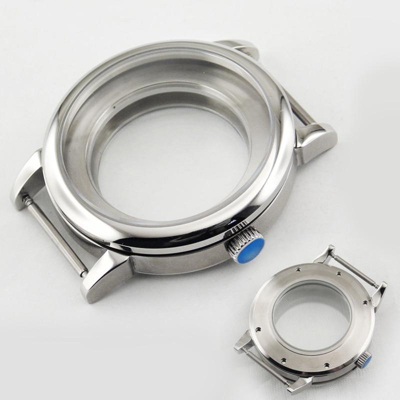 40mm Men's Watch Parts Case 316L Stainless Steel Sapphire Case Fit Eta 2836/2824, Miyota8215 / 821A, DG2813 / 3804 Seagull Case