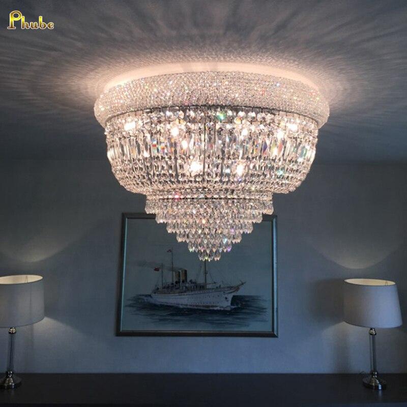 Phube Lighting Empire Gold Crystal Ceiling Light Luxury K9 Crystal Ceiling Lamp Lighting Lustre Free Shipping Innrech Market.com