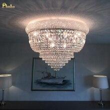 Phube Verlichting Rijk Gold Crystal Plafondlamp Luxe K9 Kristallen Plafondlamp Verlichting Lustre Gratis Verzending