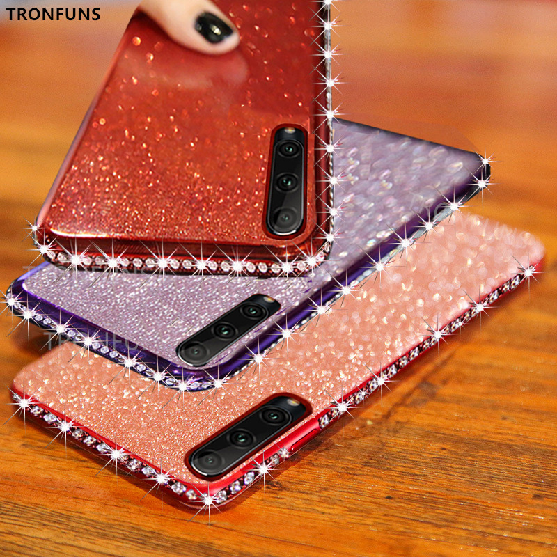 Crystal Glitter Bling Diamond Case For Xiaomi Redmi Note 8T 8 7 Pro 8A 7A K30 K20 Mi Note 10 Pro 9T CC9 CC9E Soft Silicone Cover
