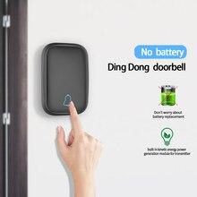 Timbre de puerta inteligente para el hogar, inalámbrico, resistente al agua, alcance de 100m, 1 botón, 1 receptor